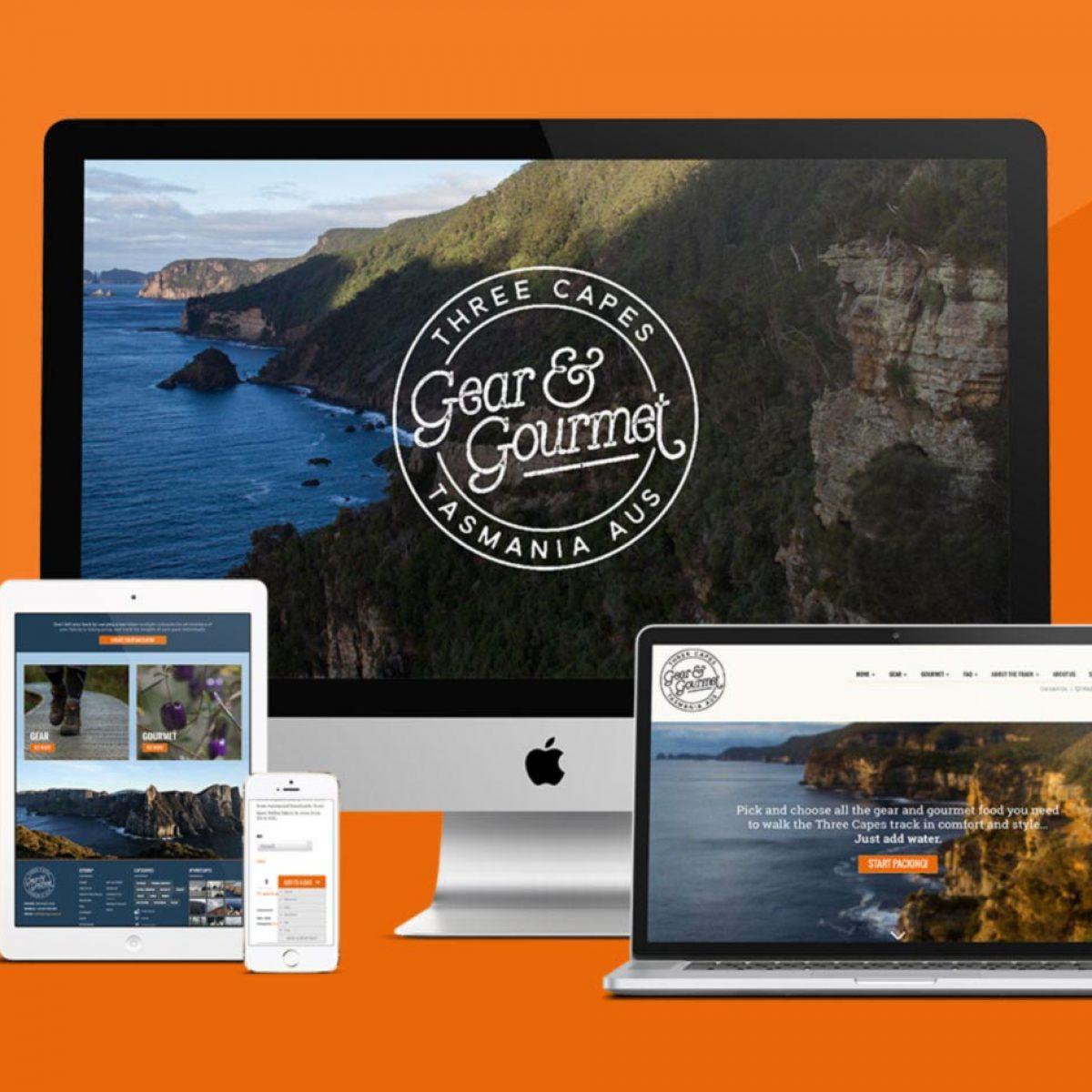 Three Capes Gear & Gourmet Website Development