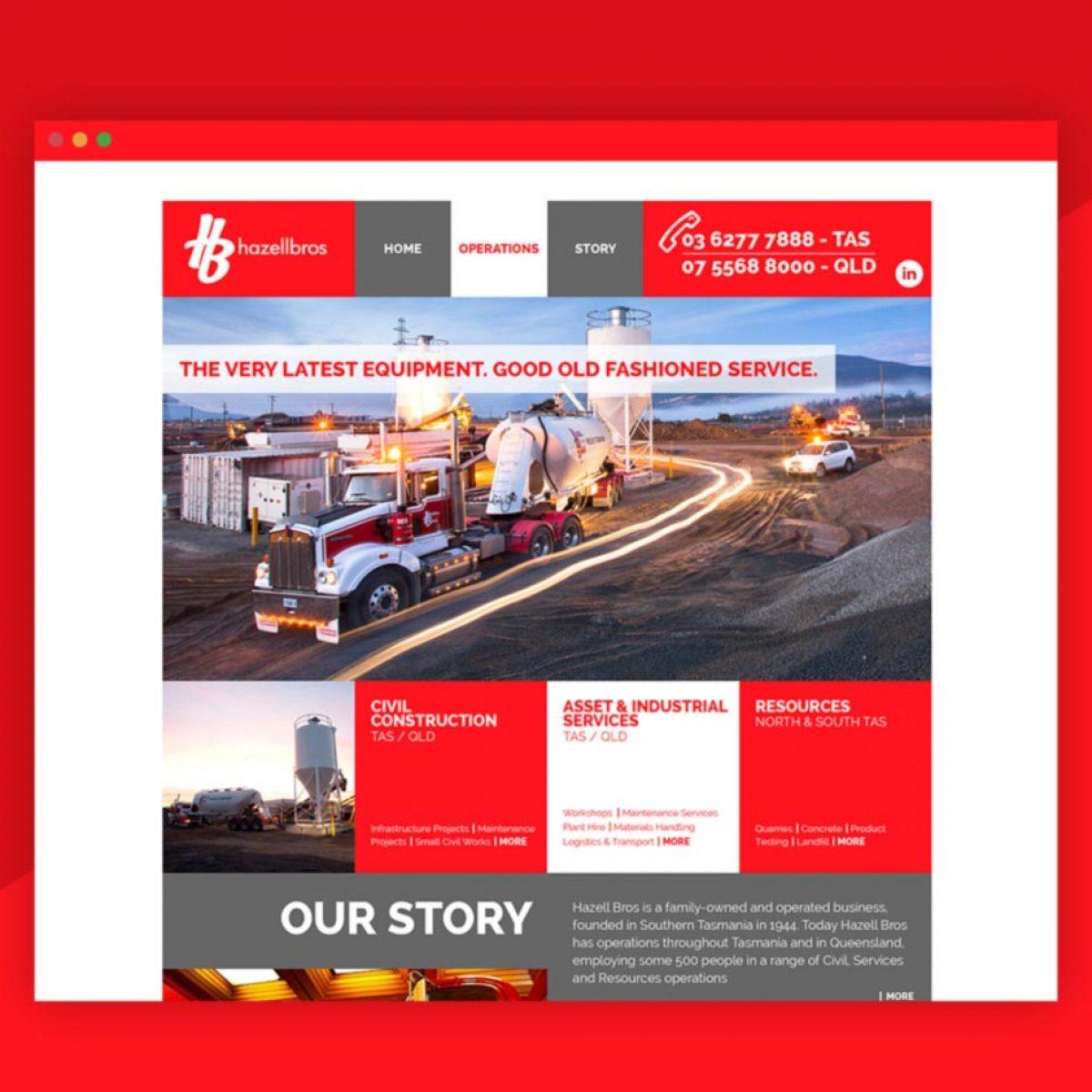 Hazel Bros Website Development