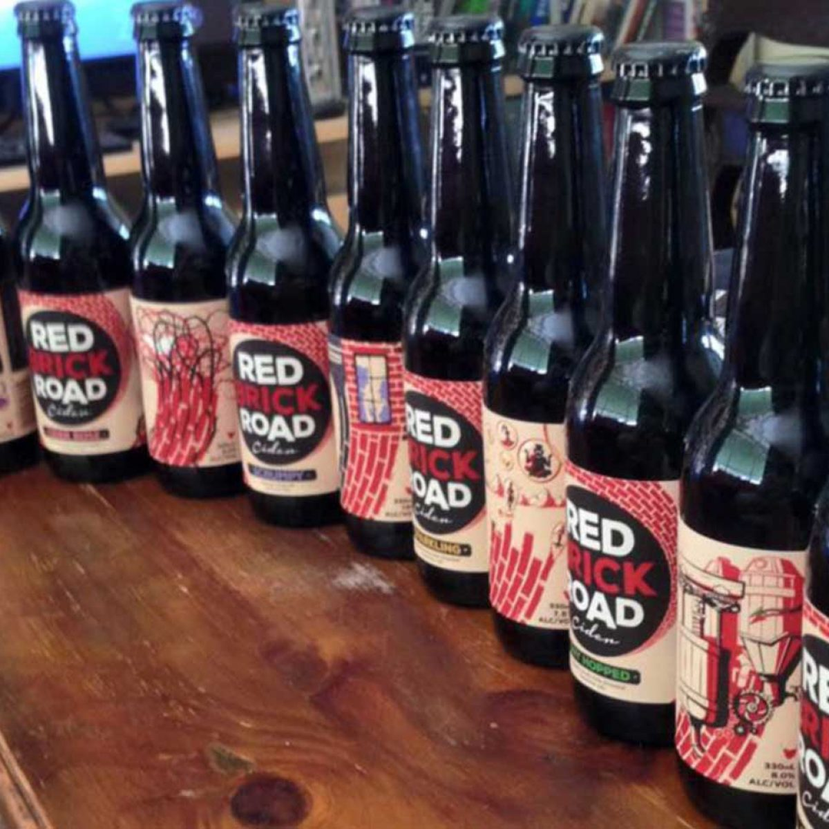 Red Brick Road Cider Brand Identity